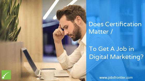 Importance of Digital Marketing Certification