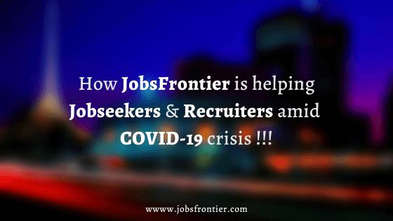 How JobsFrontier is helping the community